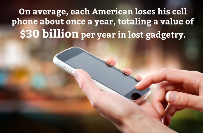 30 billion in lost phones per year